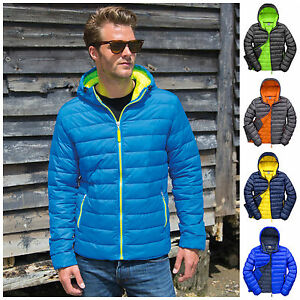 65b3fa73133 Image is loading Mens-Padded-Jacket-Coat-Quilted-Puffer-Hooded-Bubble-