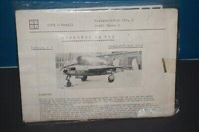 Rf3] Huma Henschel Hs 132 Schlachtflugzeug 1:72 Kit Di Costruzione - Eingetütet