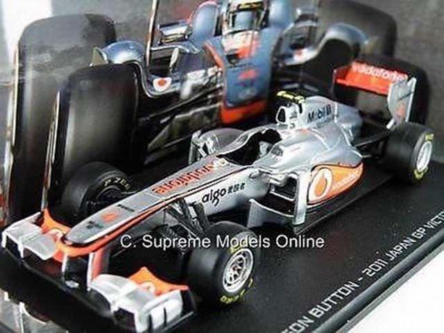 Jenson Button Escala 1 1 1 43 modelo de coche de Fórmula 1 Plata Rojo McLaren ejemplo T312Z (=) 79c248