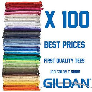 6,12, 24, 50, 80 ,100 ,115,135 GILDAN T SHIRTS t-shirt WHOLESALE BULK LOT