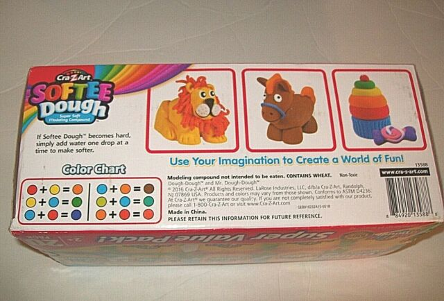 CraZ Art Softee Dough 20 Colors 20 Pack Modeling Compound in Box