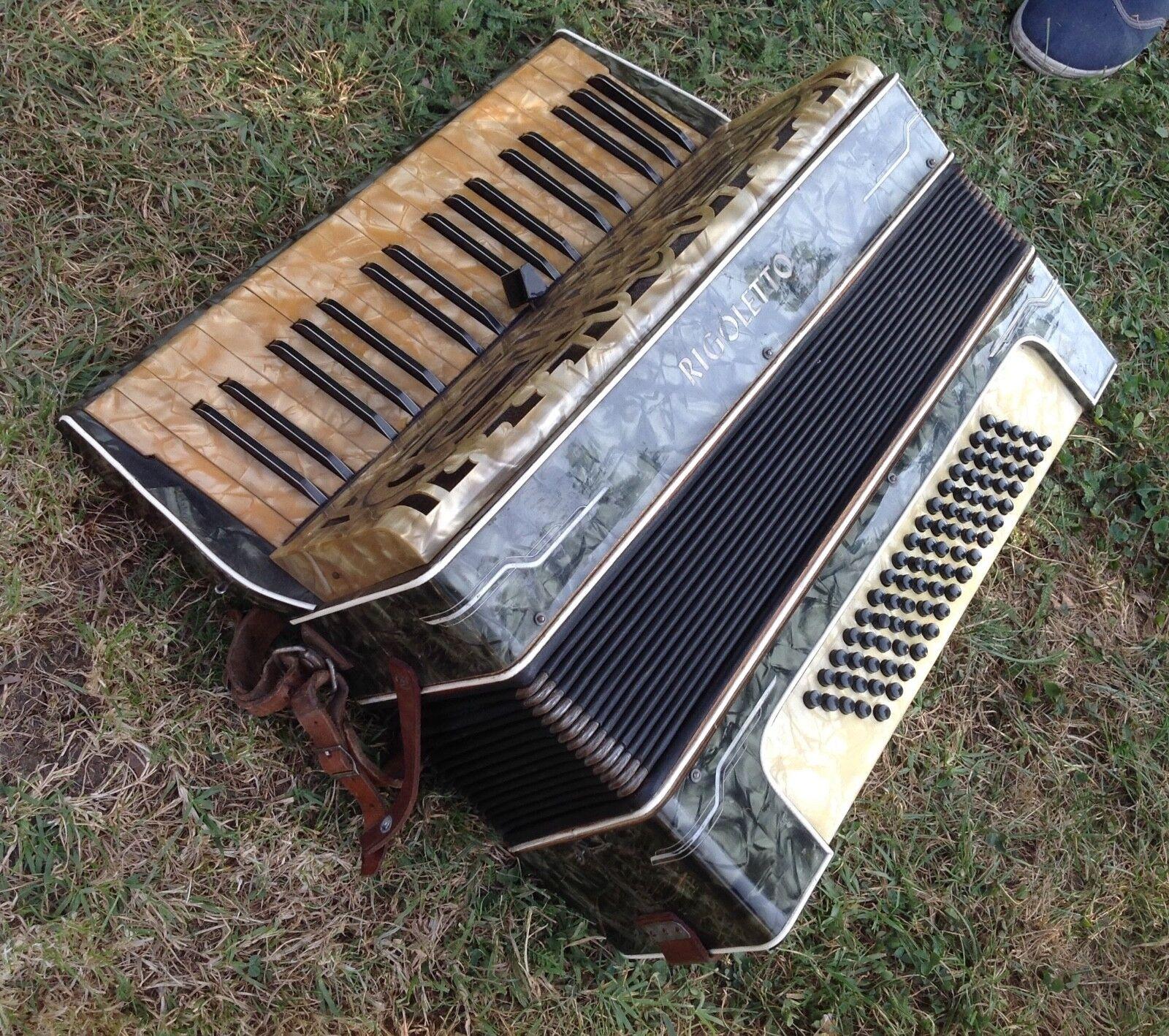 Rare Old Vintage Accordion Rigoletto Super DIX - VL DDR