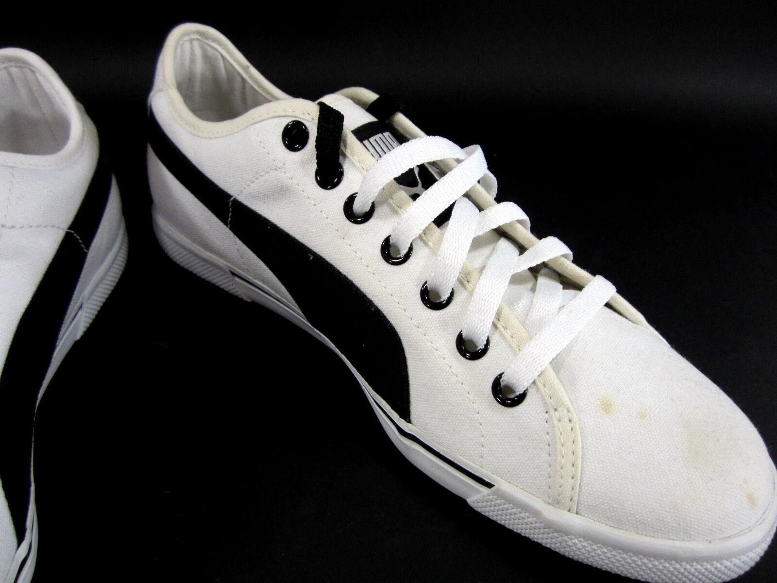 Puma scarpe Benecio Athletic Canvas bianca nero scarpe scarpe scarpe da ginnastica Dimensione 8.5 27dd23