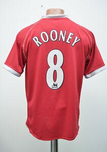 Manchester United 2006/2007 Calcio Casa maglietta jersey Nike Rooney # 8 Taglia S