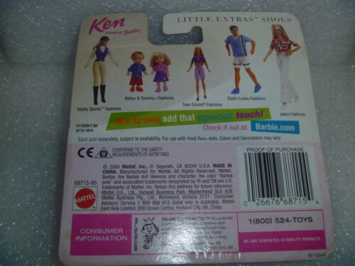 "Little Extras /""Step out In Style /"" /""NEW/"" By Mattel Cardboard Curl Ken Shoes"
