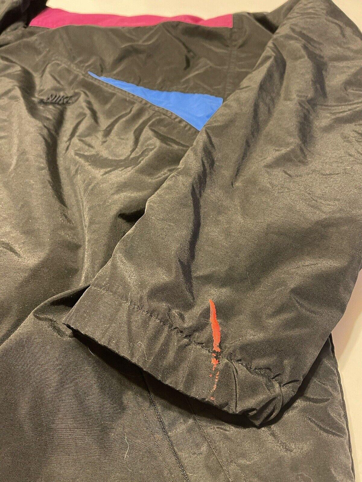 Vintage 90s Nike Swoosh Logo Quilted Full-Zip Hoo… - image 6