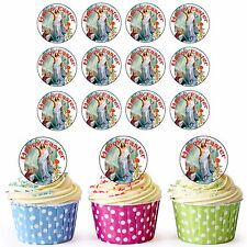 30 Pre-Cut Happy Easter Religious Jesus Edible Cupcake Cake Toppers Decorations