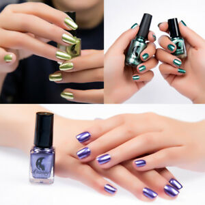 Image Is Loading Pro Mirror Nail Polish Plating Silver Paste Metallic