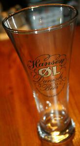 HANSEN OL - danish beer - original Beer Glass DENMARK 0,2L