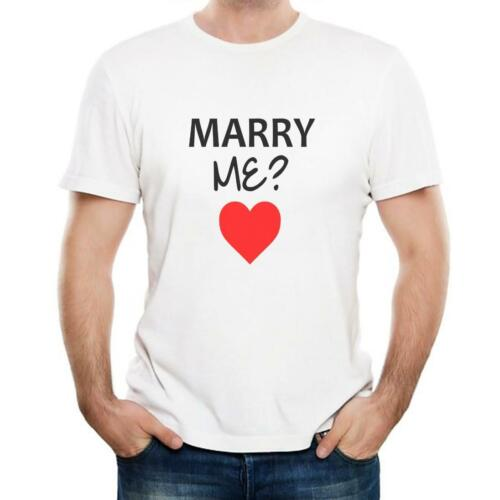 Marry Me? T-Shirt Gift Mens//Womens Novelty Engagement Proposal Wedding