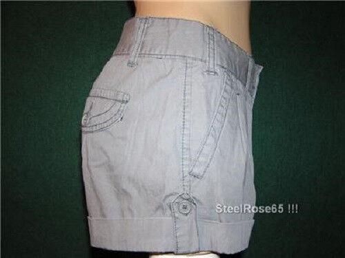 8 NEW Aeropostale Junior Girls Sidewalk Gray Cotton Cargo Shorts 7