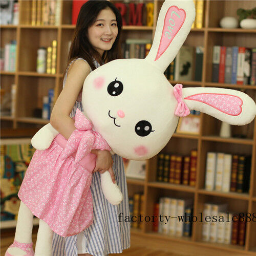 2019 Giant Big Easter Bunny Rabbit Plush soft toys Doll Stuffed kids Gifts 47