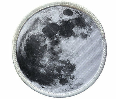 MOON Heat Seal Patch - jackets, shirts, tote bags, hats, beanies