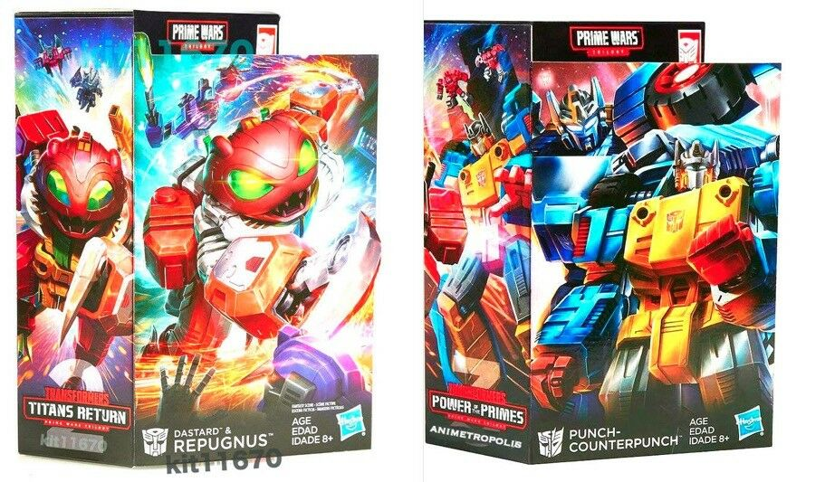 Transformers Prime Wars Trilogy POTP Punch Repugnus & Counterpunch Set of 2 NEW