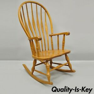 Groovy Details About Vintage Oskar Huber Oak Wood Mid Century Modern Style Rocking Chair Usa Creativecarmelina Interior Chair Design Creativecarmelinacom