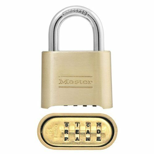 Set Your Own Word Combination Lock 2 in Wide Master Lock Padlock 175DWD