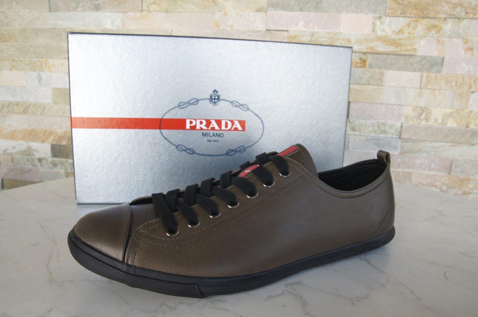 Prada Sneakers Gr 44,5  10,5  Sportschuhe Schnürschuhe Schuhe Schuhes stein neu
