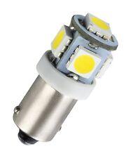 1 x BA9S Metallsockel 5 SMD LED Innenraumbeleuchtung Fußraumbeleuchtung Weiß