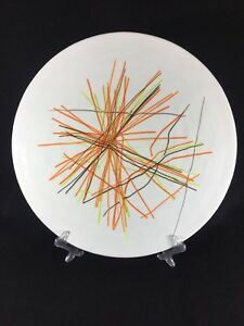 Murano-Venezia-Plate-Platter-Glass-Modern-String-Striped-Large-Serving-15-034