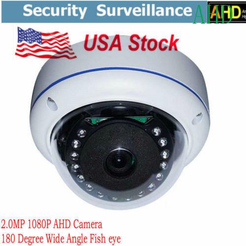 HD 1080P CCTV wired AHD camera 2.0MP 180 Degree Fisheye IR Dome Camera Security