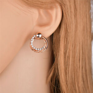 Women-Girls-Simple-Double-Round-Rhinestone-Stud-Earrings-Jewelry-Gift-JA