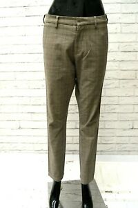 Pantalone-Donna-TOMMY-HILFIGER-Taglia-Size-40-Jeans-Vintage-a-Quadri-Pants-Woman