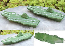 2 pcs Military Aircraft Carrier Ship Model Toy Soldier Army Men Accessories