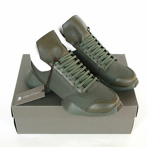 71431728e9db RICK OWENS x ADIDAS army earth green ro runner trainers sneakers ...