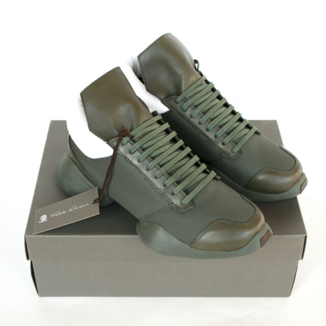 694696a7509 RICK OWENS x ADIDAS army earth green ro runner trainers sneakers shoes 7-us  NEW