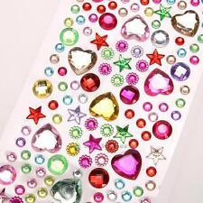 DIY 3D Diamond Acrylic Stickers Colorful Phone Case Car Home Wall Phone Decor