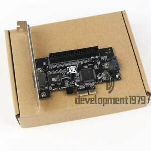 "Express Adapter Converter Card SATA II 2.0 RAID & 1 IDE 3.5"" PCI-E PCI 2 Port"