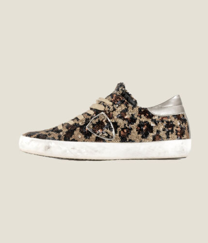 SNEAKERS DONNA PHILIPPE MODEL FULL PAILLETTES LAS VEGAS BRUN//OR