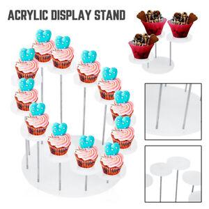 12Tier-Clear-Round-Display-Storage-Stand-Varnish-Holder-Cabinet-Home-Decor-UK