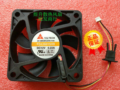 1 PCS Y.S.TECH  Fan FD126015MB DC 12V 0.16A 3 Pin 60×60×15mm