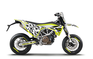 Graphics kits With Riders ID HUSQVARNA 701 New Fluo Decals kits
