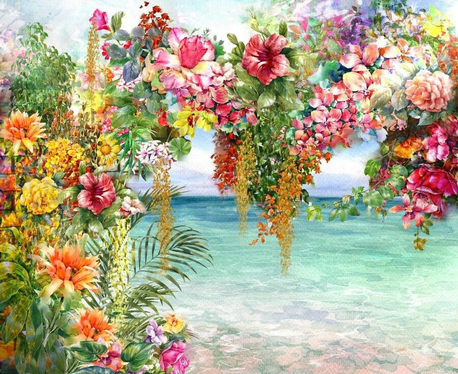 3D Ölgemälde Blüht Garten Garten Garten 884 Tapete Wandgemälde Tapeten Bild Familie DE Lemon | Ab dem neuesten Modell  | Einfach zu spielen, freies Leben  | Up-to-date Styling  4adfe1