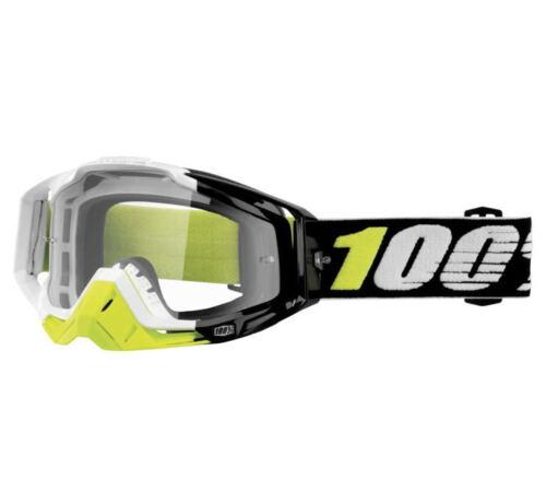 100/% Racecraft Goggles  Emrata w//Clear Lens  MOTOCROSS MX ATV UTV