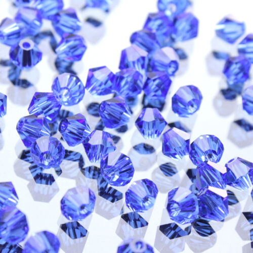 100//50X Colorful Faceted Glass Crystal Beads Loose Bicone Spacer Jewelry Making