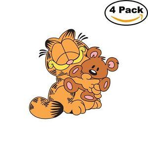 Garfield 4 Stickers Cartoon Window Sticker Decal 4x4 9 Ebay