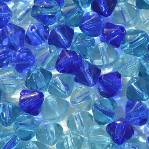 Choose COLOUR 100 Crystal Glass Bicone Beads 6mm