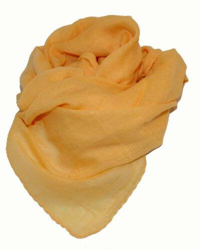 Halstuch Tuch Cotton Baumwolle uni einfarbig SONNEN GELB ca 95 x 95 cm
