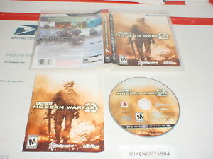 CALL OF DUTY: MODERN WARFARE 2 game complete w/ Manual - Playstation 3 PS3