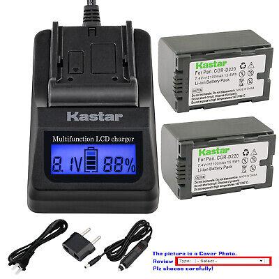 Cargador De Batería Para PANASONIC AG-DVC60 AG-DVC62 AG-DVX100 AG-DVX100A AG-DVX100B