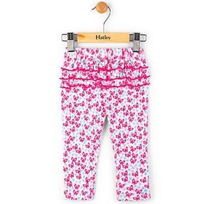 Hatley Baby Girl/'s Pink Cotton Leggings Heart Stripes