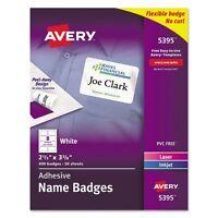 Avery Self Adhesive Name Badge - 5395