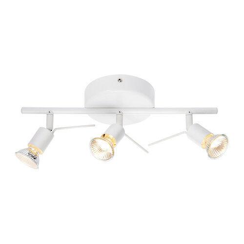 Ikea Tross 3 Spots Ceiling Spotlight Bar Track Steel Powder Coated In White