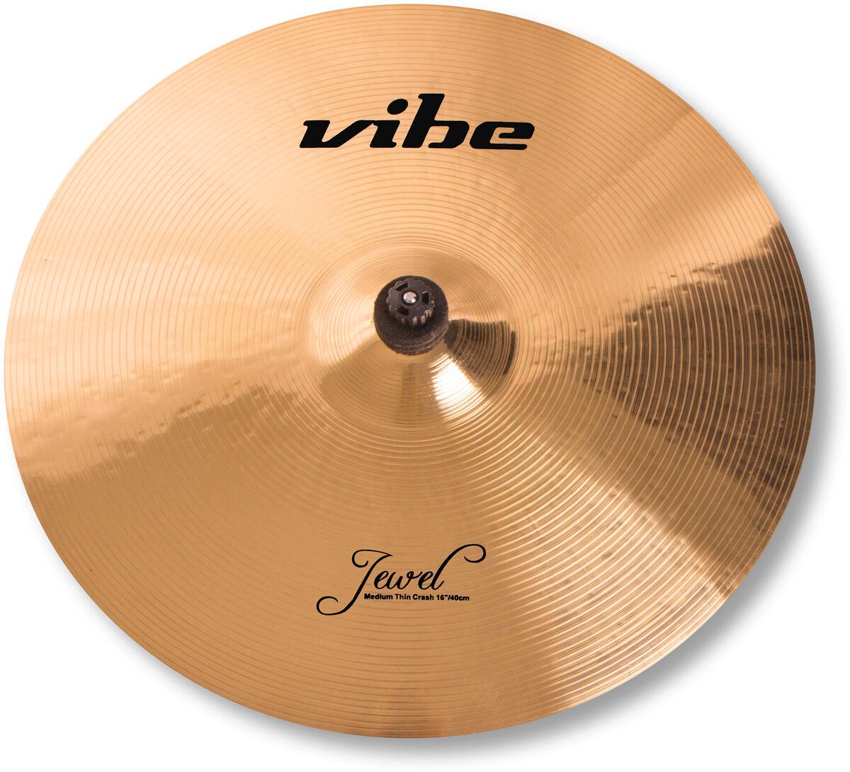 16  Vibe Jewel Brilliant Medium Thin Crash Becken Cymbal B20 mit Zertifikat