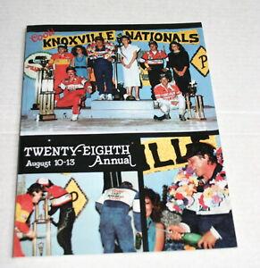 1988 28TH ANNUAL KNOXVILLE NATIONALS OFFICIAL PROGRAM STEVE KINSER JEFF GORDON
