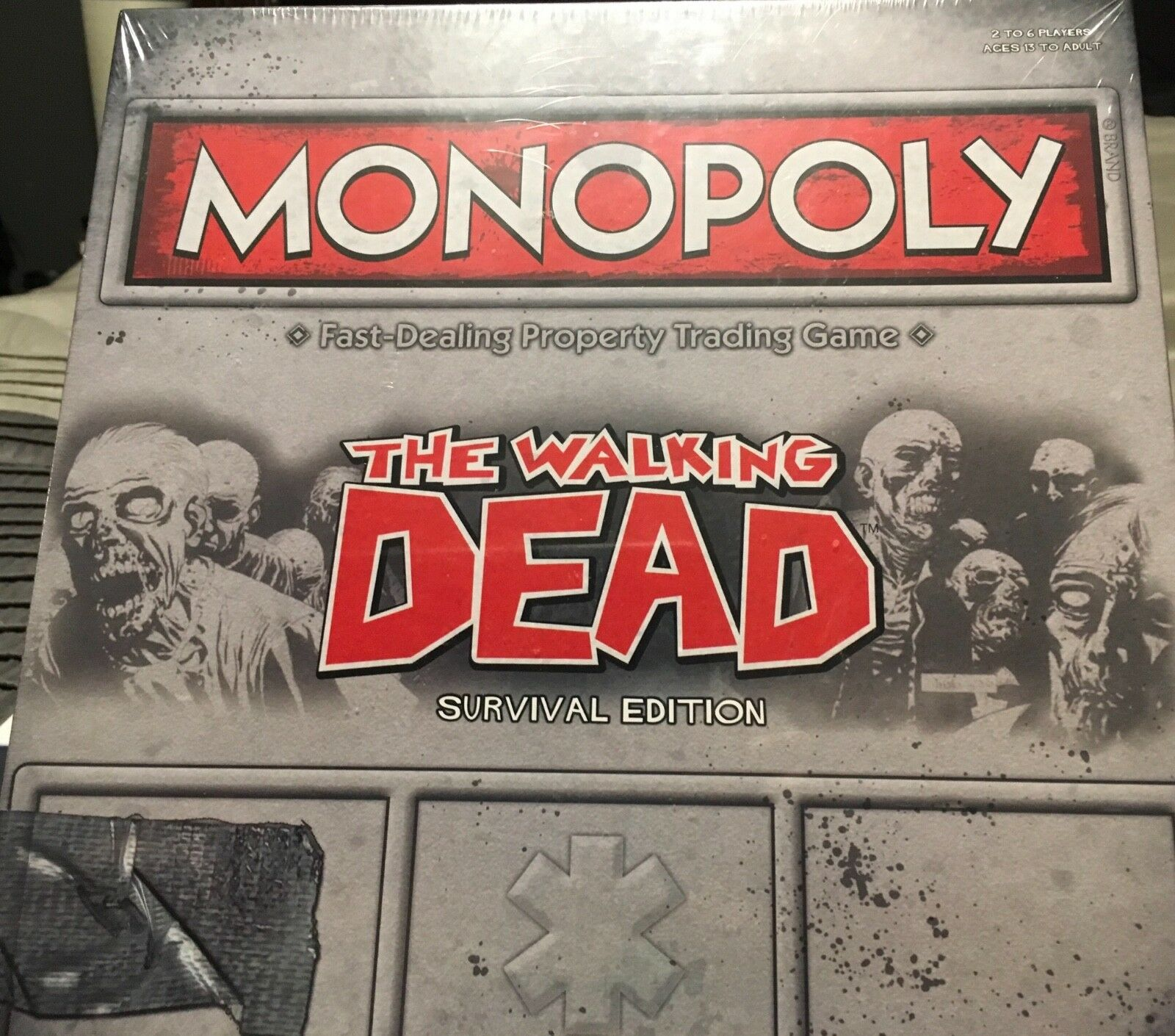 Hasbro Monopoly The Walking Dead Survival Edition NEW SEALED Property Board Game