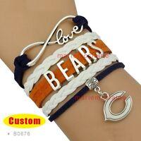 Chicago Bears Jewelry Bracelet Nfl Football Charm Sports Team Fan Us Seller